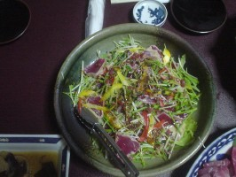 本マグロのサラダ