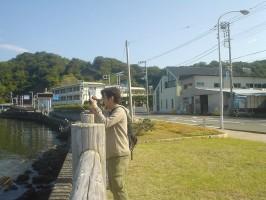 江浦湾の絶景を撮影中のDannyの面々