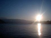 江の浦湾の夕焼け