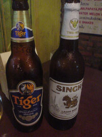 タイビール(タイガービールとシンハービール)