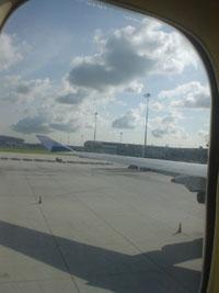 帰りの飛行機からのタイの空3