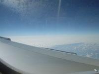 台北から成田への飛行機の中より